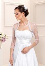Spitzenbolero zum Brautkleid