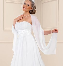Chiffon Stola zum Brautkleid