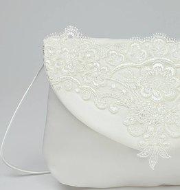 Wunderschöne Brauttasche Kommuniontasche mit Spitze