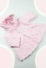 Kuschelig warmer Taufmantel in weiß, rosa oder creme