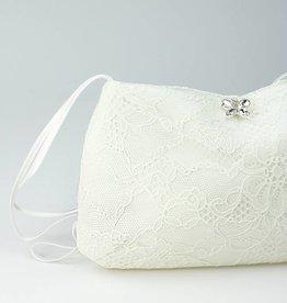 Bianco Evento  Brauttasche mit Spitze in creme