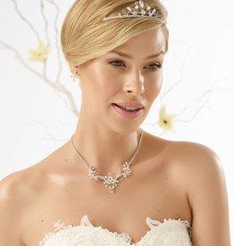 Bianco Evento Brautmode aus Berlin Brautschmuck Set Halskette Ohrringe