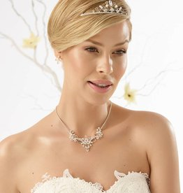 Bianco Evento  Brautschmuck Set Halskette Ohrringe