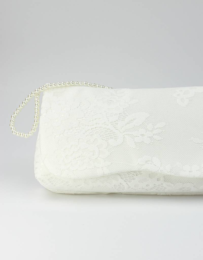 Brauttasche mit Spitze und Perlen