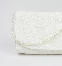 Vintage Brauttasche ivory creme