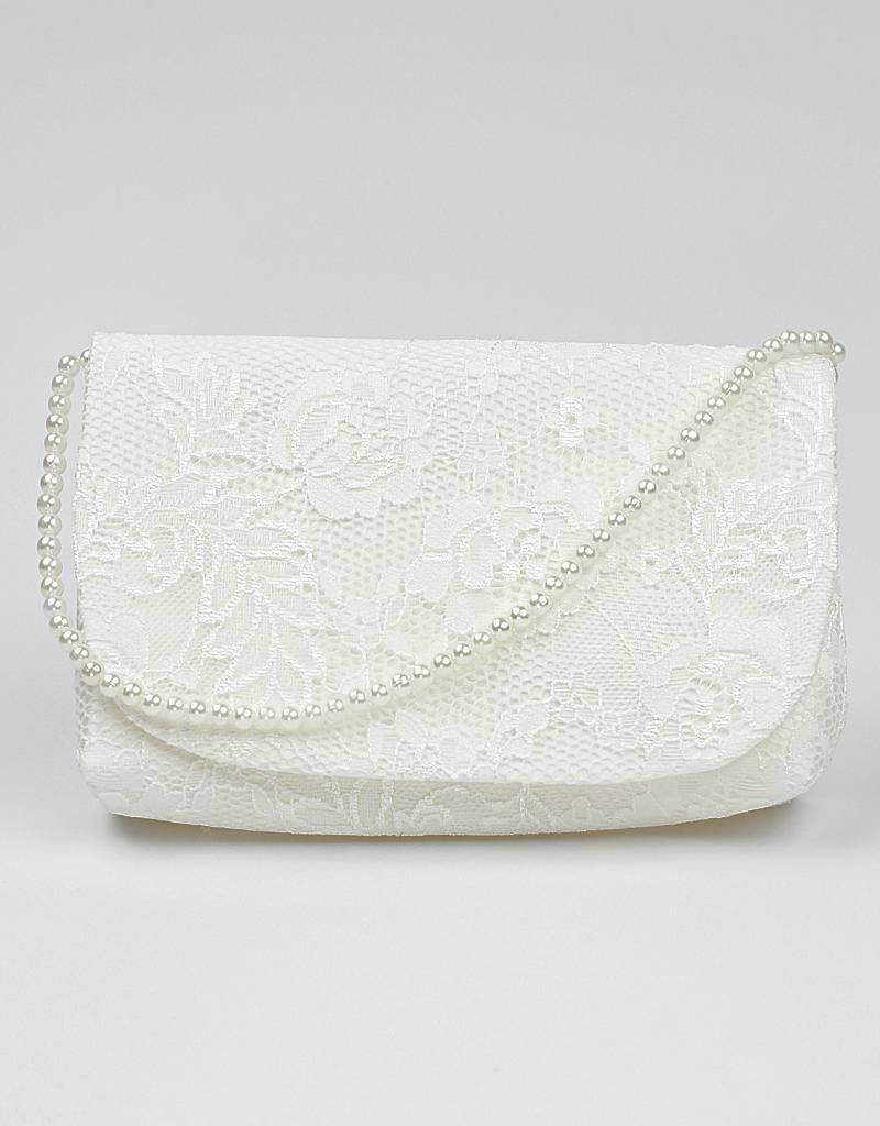 Brauttasche vintage mit Spitze und Perlen