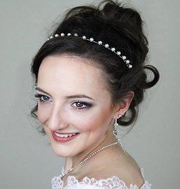 Haarreif mit Perlen für Kommunion Blumenmädchen