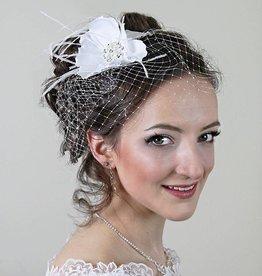 Braut Haarschmuck Fascinator Blume