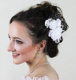 Blumen Haarschmuck für Brautfrisur
