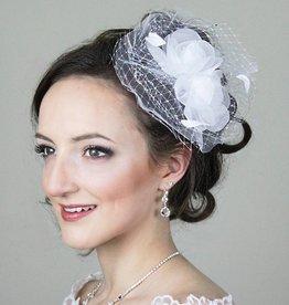 Braut Haarschmuck  Organzablumen