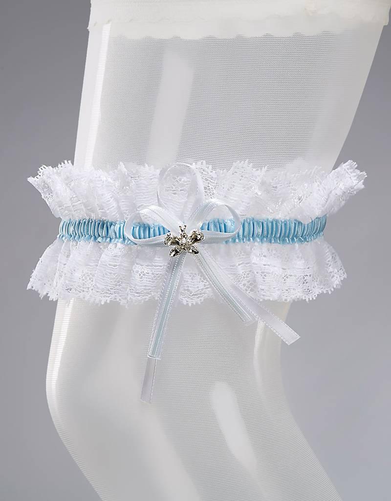 Bianco Evento  Strumpfband aus Spitze in weiß oder creme