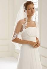 Marken Brautschleier mit Spitze einstuffig