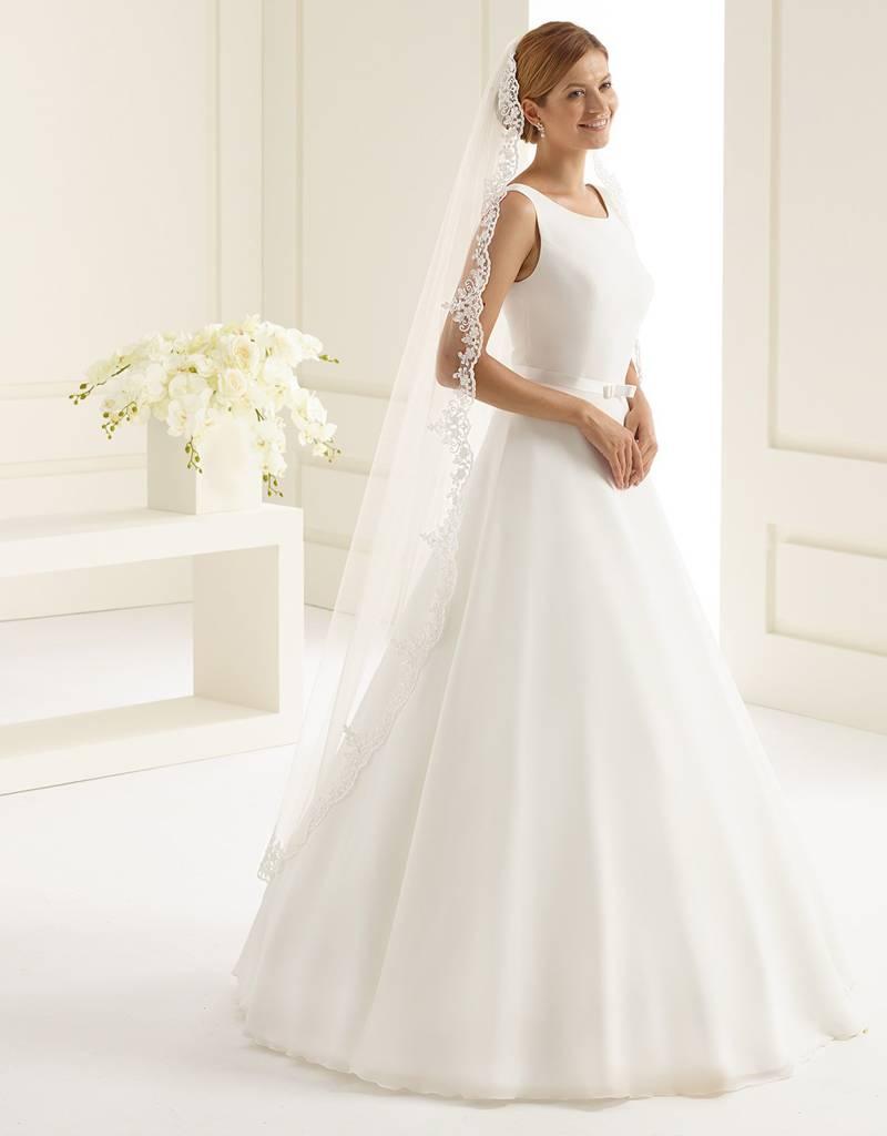 Marken Brautschleier lang mit Spitze