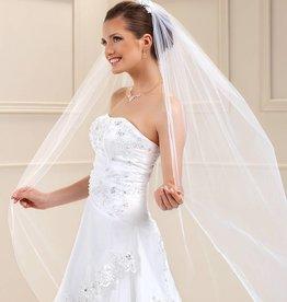 Langer Brautschleier Soft 250cm mit Kurbelkante
