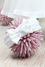 Taufkleid mit 3D Blumenspitze