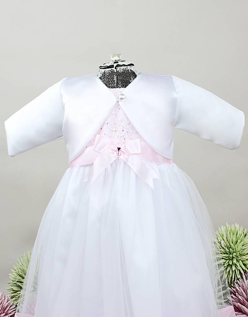 Bolero zum Taufkleid aus Satin in weiß