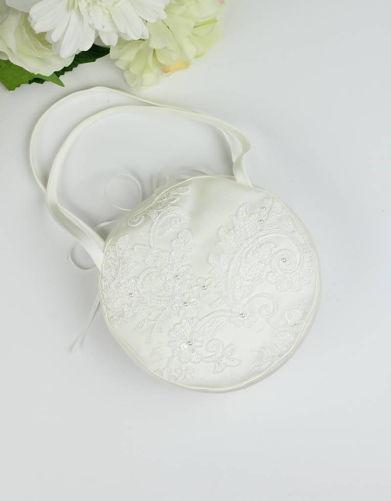 Runde Tasche für Hochzeit oder Kommunion