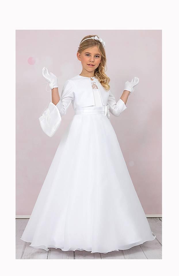 Brautkontor Kids Kommunion Kommunionkleid mit Reifrock und Bolero
