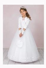 Brautkontor Kids Kommunion Kommunionskleid mit Spitze und Tüll als Set