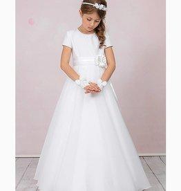 Brautkontor Kids Kommunion ANNA- schlichtes Kommunionkleid mit Perlen