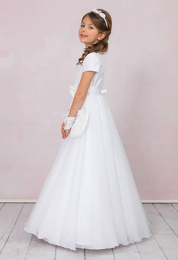 Brautkontor Kids Kommunion Kommunionkleid, Reifrock, Bolero und Tasche für Kommunionmädchen