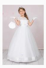 Brautkontor Kids Kommunion Langes Kommunionkleid mit Spitze und weitem Rock