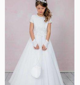 Brautkontor Kids Kommunion Kommunionkleid EMMA mit Spitze in A-Linie