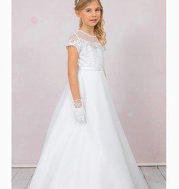 Brautkontor Kids Kommunion Kommunionkleid mit Spitze Natalie in A-Linie