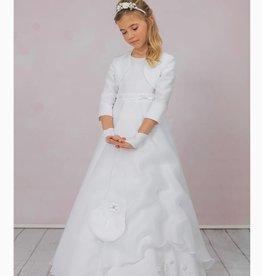 Brautkontor Kids Kommunion Kommunionkleid mit Bolero, Reifrock und Tasche