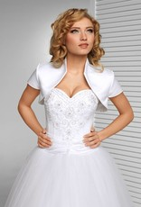 Satinbolero zum Brautkleid
