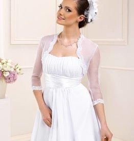 Braut Bolero aus Organza mit Pailletten Spitze