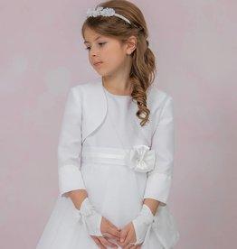 Brautkontor Kids Kommunion Joliene-Kommunion Bolero Jacke Satin Perlen