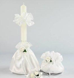 Kommunion Tasche Kerzenrock Blumen Armband