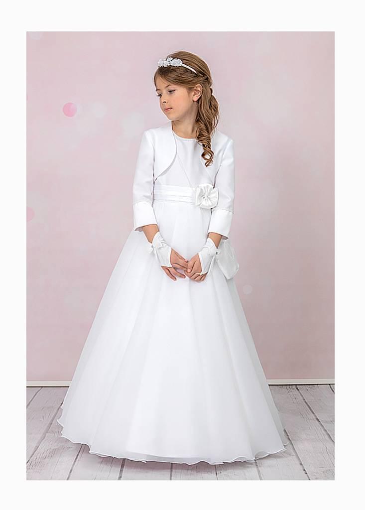 Brautkontor Kids Kommunion Kommunionkleid mit Reifrock und Bolero Anna