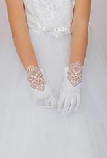 Brautkontor Kids Kommunion Edle Handschuhe für Kommunion Mädchen