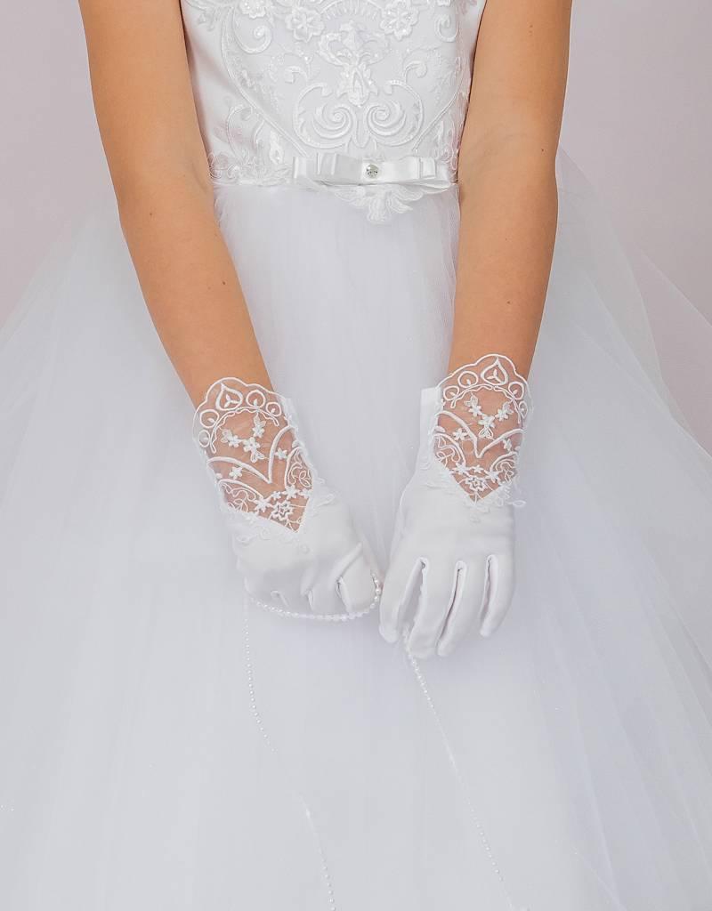 Edle Handschuhe für Kommunion Mädchen