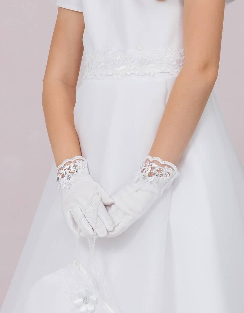 Mädchen Handschuhe für Kommunion