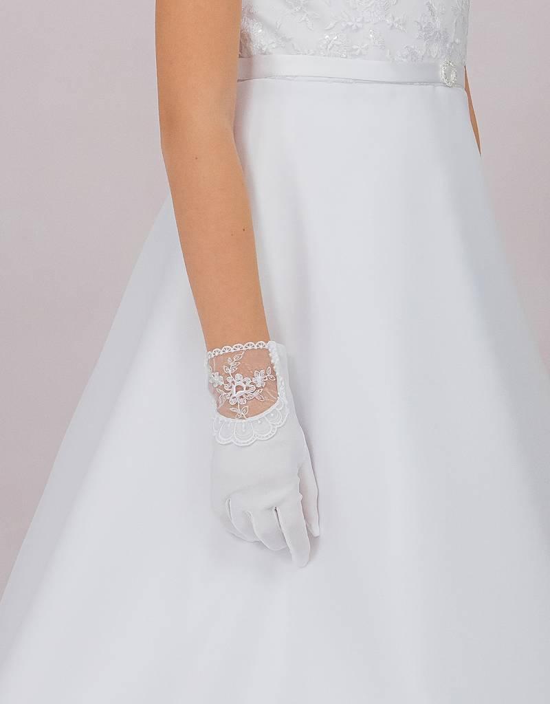 Brautkontor Kids Kommunion Kommunion Handschuhe zum Kommunionkleid