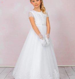 Brautkontor Kids Kommunion ISABELLA-Kommunionkleid mit edler Spitze