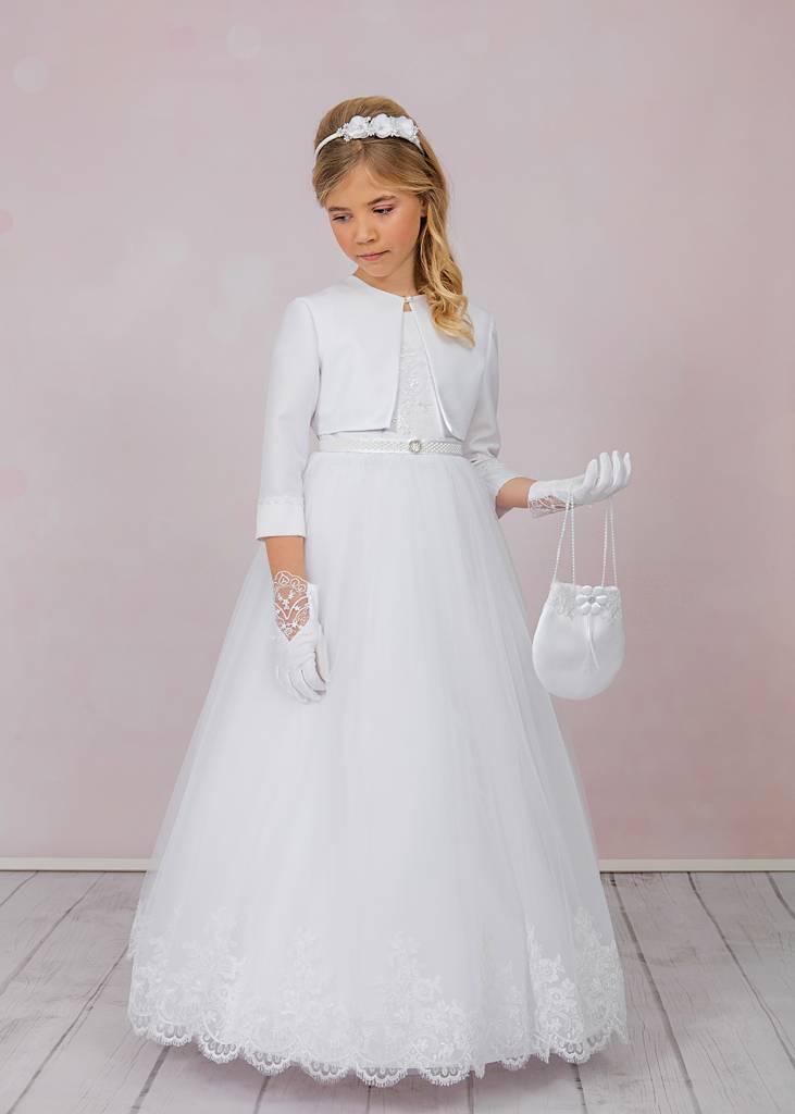 Traumhaftes Kommunionkleid mit viel Brautspitze