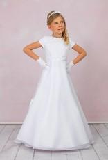 Brautkontor Kids Kommunion Kommunionkleid mit Reifrock und Spitze in A-Linie