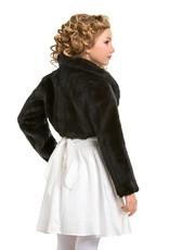 Mädchen Bolero Jacke aus Fellimitat für besondere Anlässe