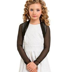 Festliche Mädchen Jacke aus Stretch Tüll