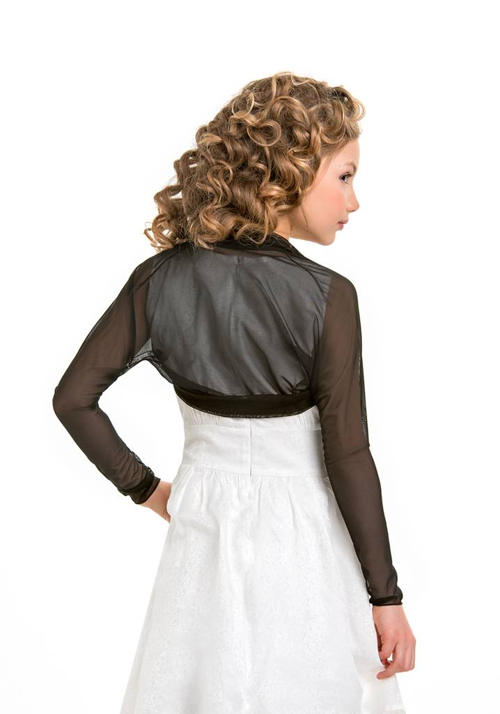 Mädchen Bolero zum Festkleid in schwarz