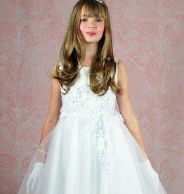 Kommunionkleid kurz Blumenmädchenkleid in weiß