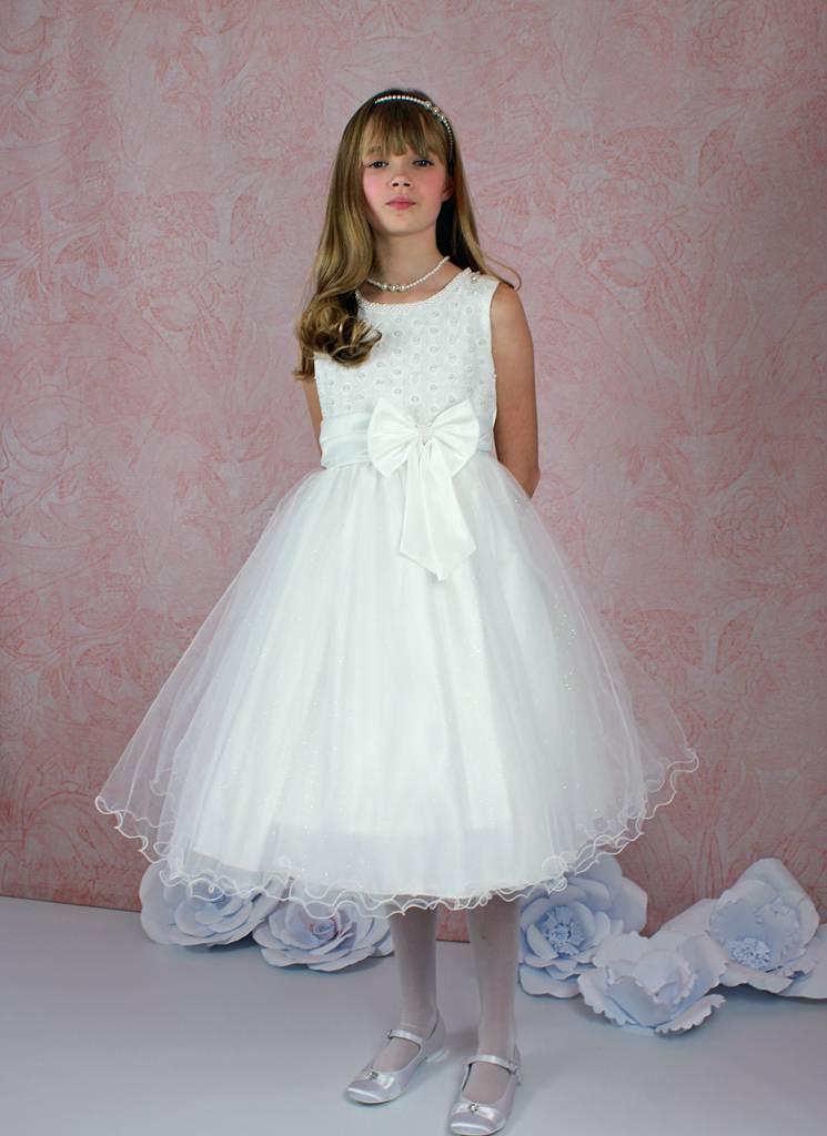 Festliches Mädchenkleid für Hochzeit, Kommunion oder Taufe ...