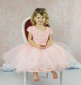 Taufkleid festliches Babykleid in lachsrosa