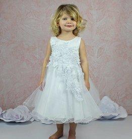 Festliches Mädchenkleid 3D Spitze Tüll Taufkleid