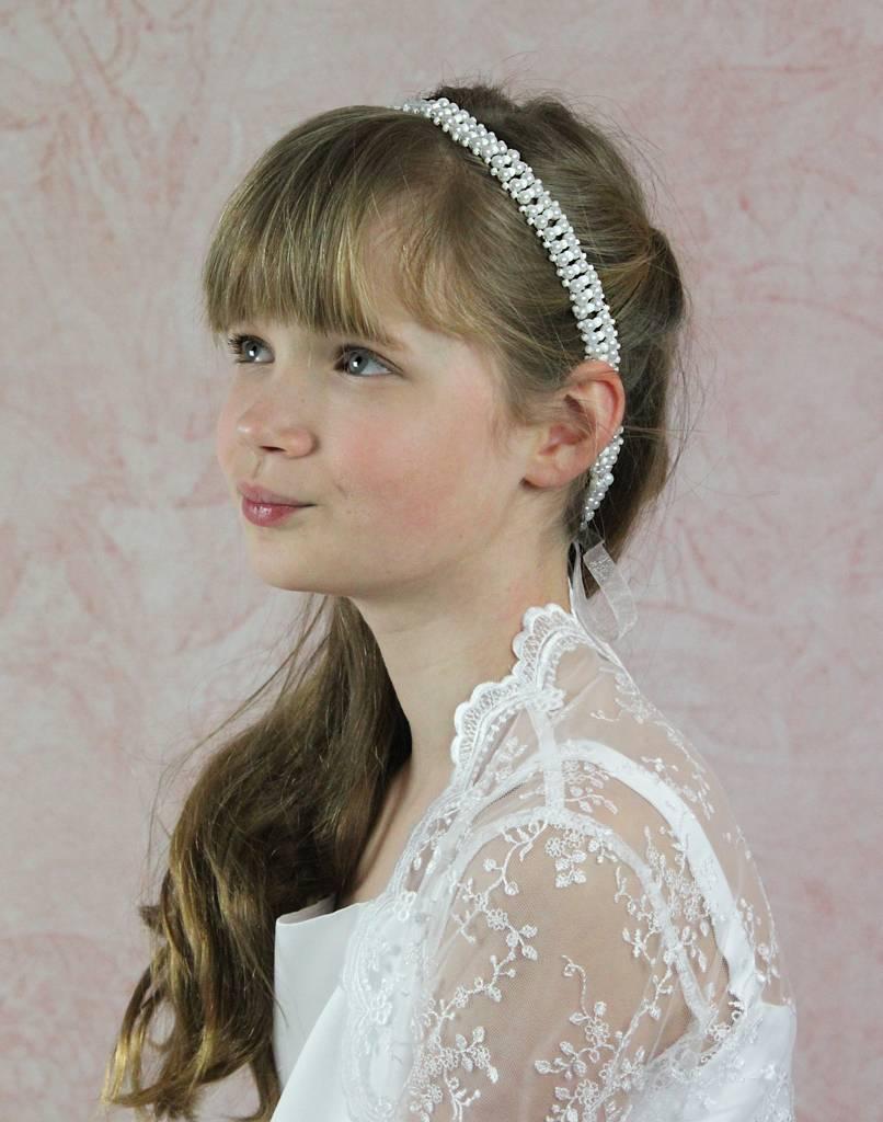 Kommunion Haarschmuck mit Perlen