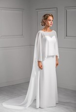 Fantastischer Braut Mantel Umhang aus weichem Chiffon